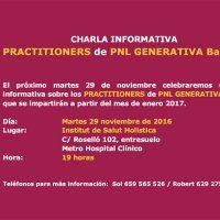 Charla gratuita Practitioners en PNL Generativa Barcelona